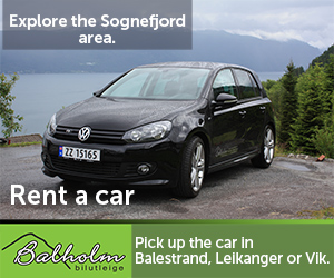 Rent a car in Balestrand, and explore the area!